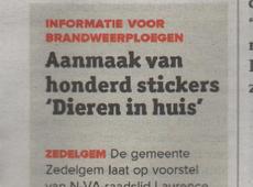 Stickers 'Dieren in huis'