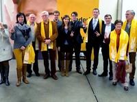 Groepsfoto van de Zedelgemnaars op het N-VA congres in Antwerpen